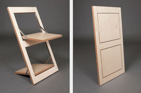 Super Simple Flat Pack Idea To Reinvent The Folding Chair