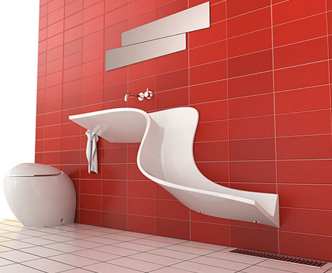 Ordinaire Bathroom Waterfall Wall Sinks Show Off Daily Use U0026 Flow