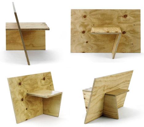 Minimalist Plywood Slot Work Furniture