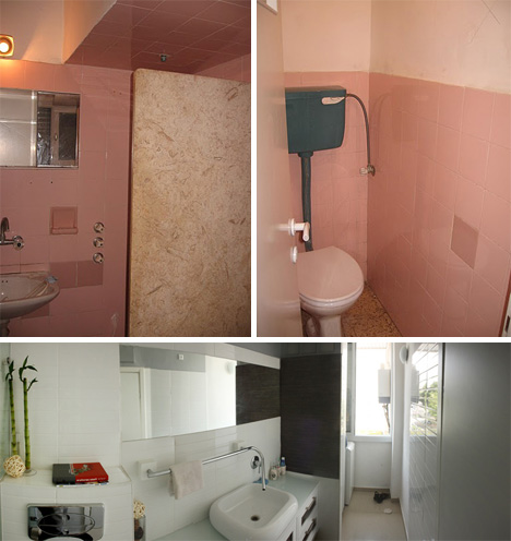 Running start first apartment gets a stylish diy makeover - Renovating a bathroom what to do first ...