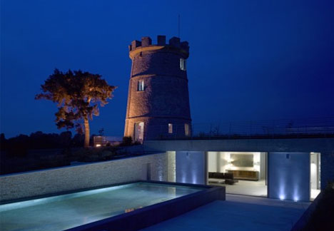 Lone Turret Turned Lookout Tower For Underground Home