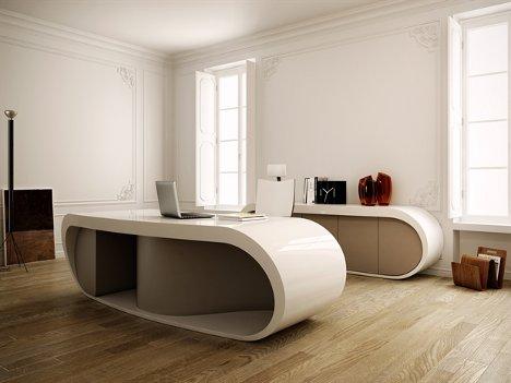 Design at Work Sleek Sophisticated Executive Office Desk