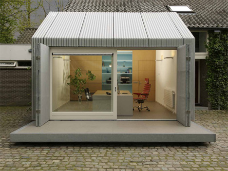backyard atelier smooth garage to studio transformation