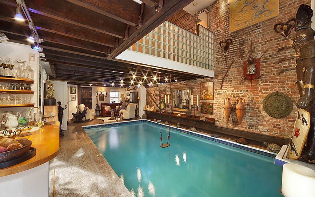 NYC Townhouse with Living Room Pool | Designs & Ideas on Dornob