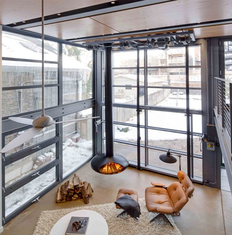 18 Foot Glass Hangar Door Opens Stunning Steel Addition