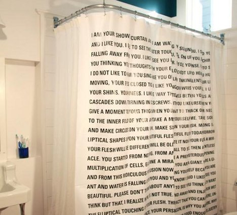Shower In Words: Curtain Brings Literature To The Bathroom