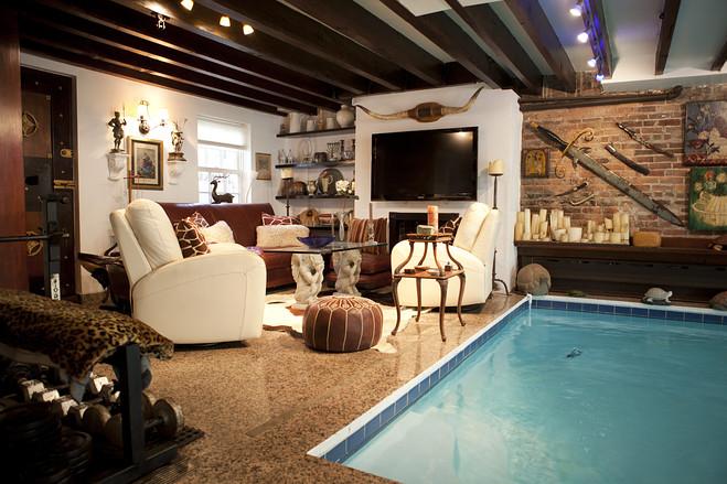 Nyc Townhouse With Living Room Pool Designs Ideas On Dornob