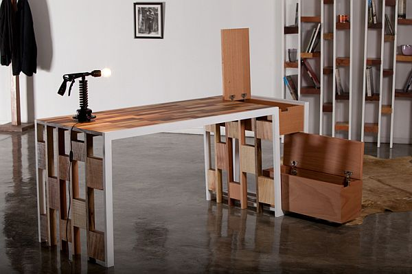Patchwork Recycled Wood Office Furniture Designs Ideas On Dornob
