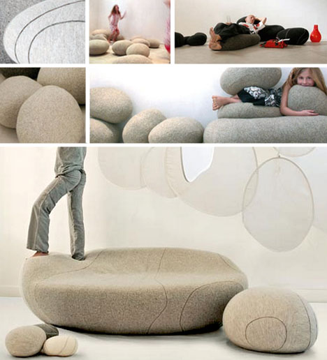Living Stones: Rock Shaped Cushions Come In All Sizes
