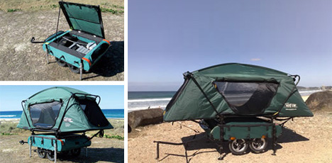 Ultra-Tiny Camper Designed to Trail Your Two-Wheeled Ride