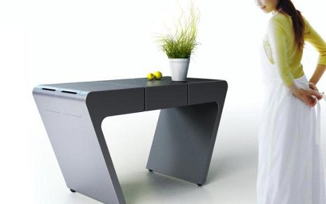 Expanding kitchen prep surface supports big or small meals - Petite table pliable ...
