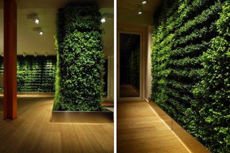 Indoor Garden Lighting Custom vertical gardens instantly green up any interior greenworks workwithnaturefo