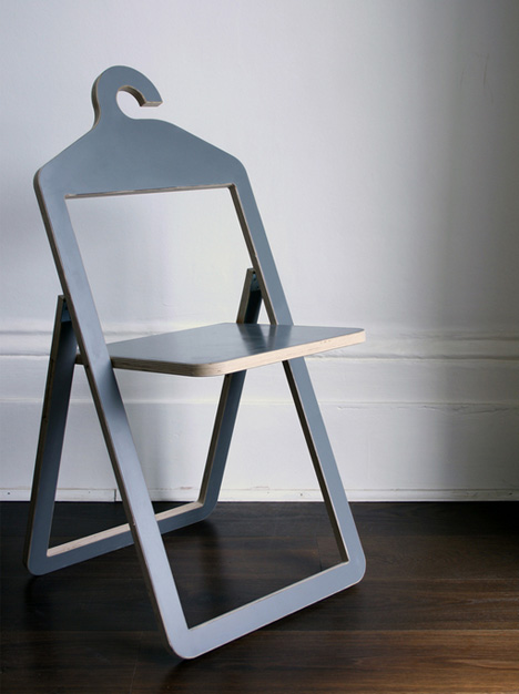 Flat Pack Kitchens >> Hanger Chair Flips Down & Folds Up for Suspended Storage | Designs & Ideas on Dornob