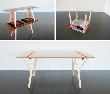 Exceptionnel Mobile Furniture Set Breaks Down To Go Anywhere With You