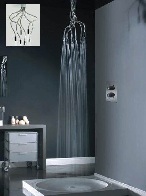 Snake & Spray: Twisted Medusa-Style Shower Head Design