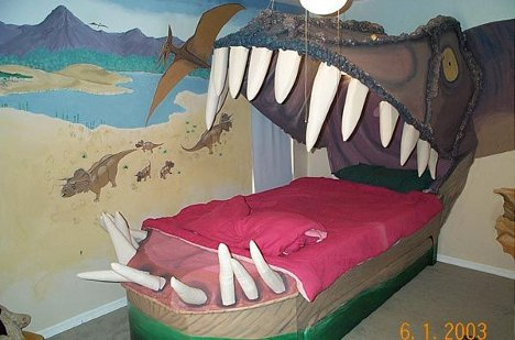Almost The Belly Of The Beast Awesome Dinosaur Mouth Bed - T rex bed