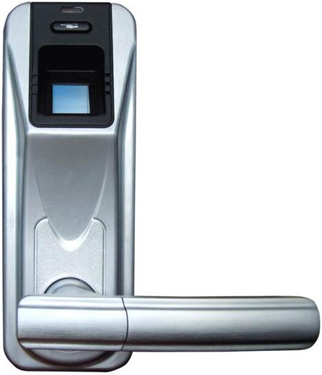 Door Handles With Locks fast & secure: sleek fingerprint-scanning door handle lock