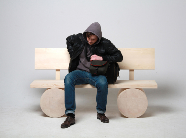Modern Log Furniture Refines The Rustic Tree
