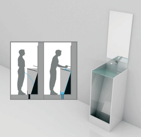 Combination Urinal Concept Surprisingly Blends Sink U0026 Toilet