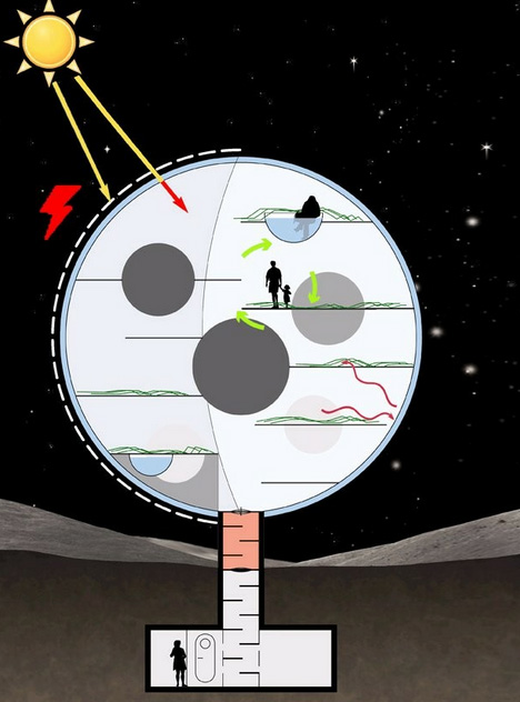Moon Villa Spherical Lunar Home For Low Gravity Living