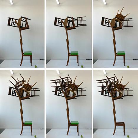 Balancing Act Gravity Defying Ball Of Floating Furniture