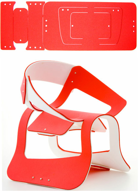 Flat Pack Flex Chair Bends Amp Twists Into Shape On Demand