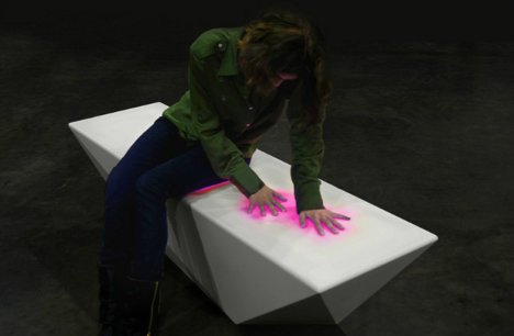 Interactive Furniture Pieces Light Up With Human Touches. By Delana. Human  ...