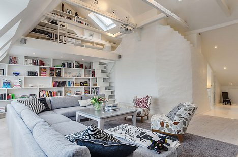 Small Stockholm Attic Space = Huge Design Opportunities