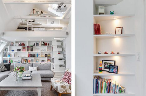Built In Storage Units Throughout The Apartment Maximize Wall Space Without  Intruding Into The Living Area.