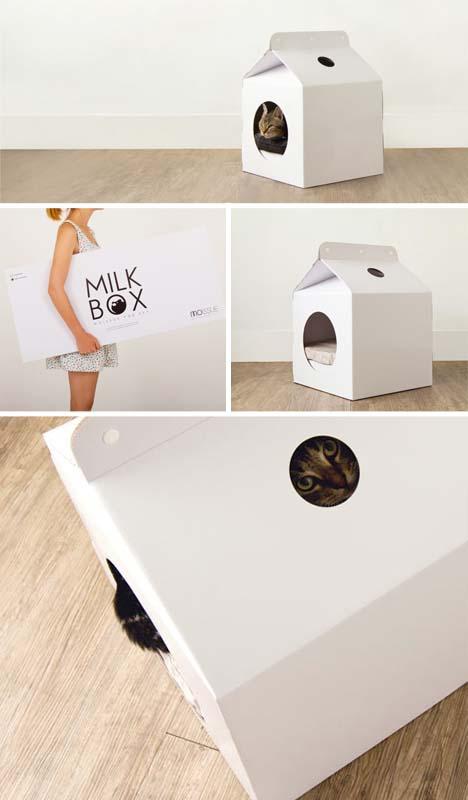 Cat box house