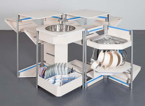 Compact Modular Kitchen In A Box Has It All, Including Sink