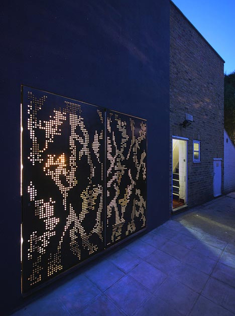 Dubbed ... & Perforated Steel Mixes Light \u0026 Mystery in Windows \u0026 Doors