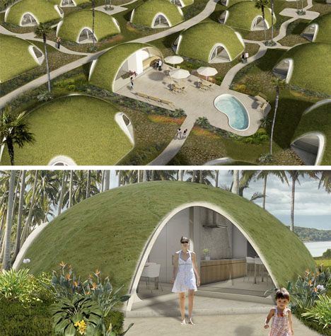 Binishells Green Pods Reinvent Retro Cool Housing Shapes