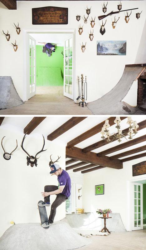 Skate Villa: Skateboard-Friendly Hunting Lodge Conversion