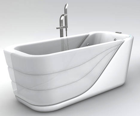 Designers  Sleeker Inflatable Solution Reinvents Basic Walk In Bathtub