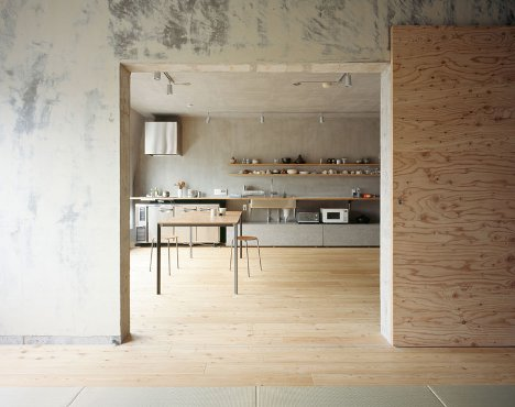 Heavy And Light Minimal Concrete Plywood Home Interior