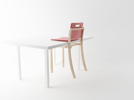 Hold it cantilever chair hangs off table so you can sweep for Ez hang chairs instructions