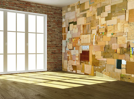 Wood Slat Wall informal storage: wood slat wall inspiredsafari vests