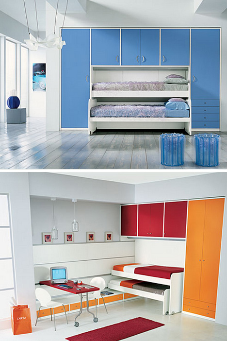 bunks lofts 8 bedroom layouts for multiple child spaces. Black Bedroom Furniture Sets. Home Design Ideas