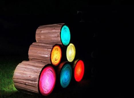 Stump Seats Light Up Log Stools Turn