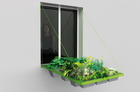 Moving Window Garden Adds Some Green To Urban Life