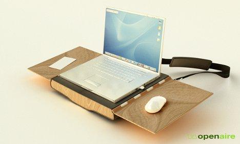 Portable Workstation Combines Chair Desk Laptop Bag