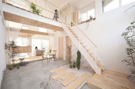 & Domestic Bliss: Zen Garden-Style Living Room Atrium Space