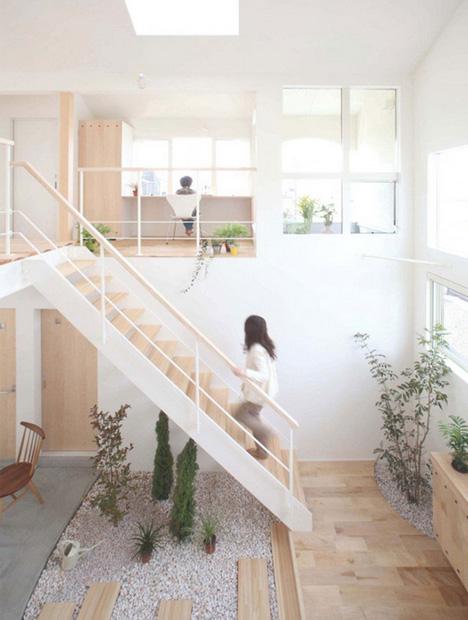 What Is Zen Design domestic bliss: zen garden-style living room atrium space