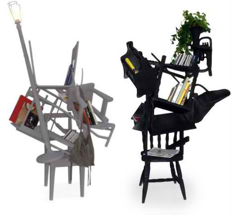 Is A Playful Assemblage Of Furniture And Other Objects That, When Mashed  Together, Have Taken On New Functions. The Chair Itself Now Holds Books, ...