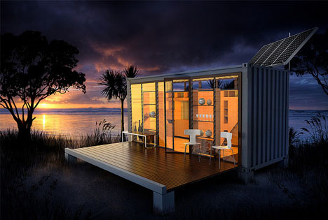 Port A Bach Mobile Fold Out Shipping Container Home