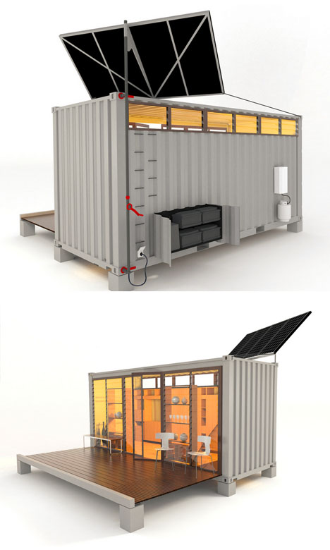 PortaBach Mobile FoldOut Shipping Container Home Enchanting Design Container Home Concept