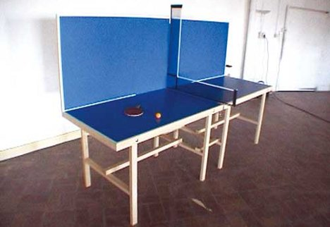 Ping pong peculiar 6 extreme ly fun table tennis surfaces for Sofa table tennis