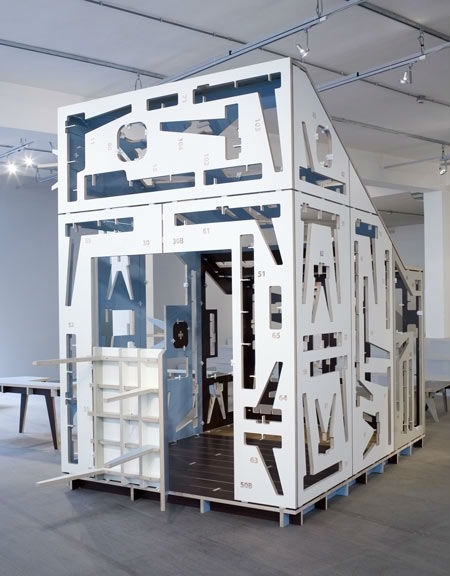 Calling It U201ca Poetic Vision For Efficient Production And Material Use,u201d The  Designers Envision The House Of Furniture Parts As A Customizable Structure  With ...