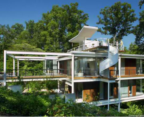 Midcentury Modern Home Features Spiraling Exterior Stairs ...